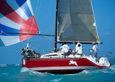C&C 99 Red Spinnaker